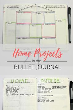 Bullet Journal Home Projects Spread - Productive & Pretty