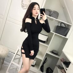 15 Cute Girly Fashion Outfits Ideas For Summer - Oscilling Tight Dresses, Casual Dresses, Maxi Dresses, Girly Outfits, Cool Outfits, Skirt Outfits, Asian Fashion, Girl Fashion, Fashion Women