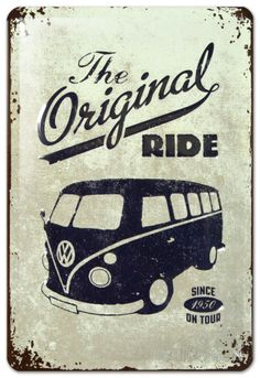 VW The Original Ride Plaque en métal sur AllPosters.fr