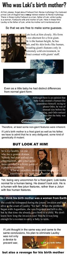 My mind is blown right now, IT MAKES SENSE.... << I like this theory, but tend to think maybe she was Asgardian, not human...