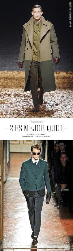 Outfit Hombre McQ & Valentino - El Palacio de Hierro - El Libro Amarillo - Otoño/Invierno 12/13