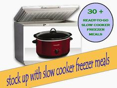 30 + slow cooker freezer meals from A Year of Slow Cooking (#glutenfree)