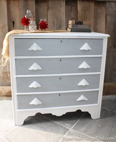 Chest in Letterpress and Beadboard - Farm Fresh Vintage Finds