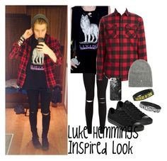 """""""~ Luke Hemmings Look: 5 Seconds Of Summer ~"""" by penguinsqueek ❤ liked on Polyvore featuring New Look, Converse, Original Penguin, Polo Ralph Lauren, Casetify, men's fashion and menswear"""