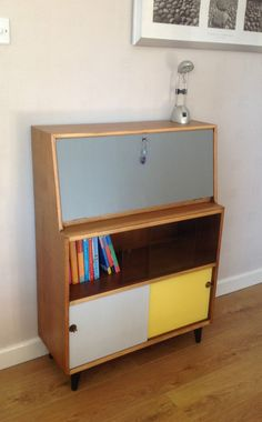 mid century modern restyled bureau bookcase drinks cabinet retro1960 in home furniture u0026 diy