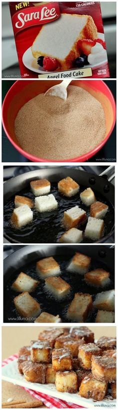 Angel Food Cake Churro Bites, easy breakfast, easy dessert, food for a crowd