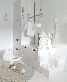 Unisex Baby Nursery Mommo Design Diy Ideas With Wood Childrens Room Ikea Baby Room Ideas Shelves On Diy Baby Ideas Projects Ikea Baby Room, Baby Bedroom, Nursery Room, Girl Room, Girls Bedroom, White Nursery, Nursery Decor, Child Room, Baby Decor