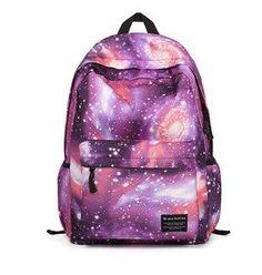 Galaxy shine fashion design boxy nylon women bag pack student print style backpack teenagers laptop travel backpacks rucksacks