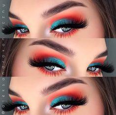 29 Karneval Make-up fr Copy Now! Beta Fisch inspiriert Lidschatten 29 Karneval Make-up fr Copy Now! Makeup Eye Looks, Cute Makeup, Eyeshadow Looks, Pretty Makeup, Skin Makeup, Makeup Eyeshadow, Summer Eyeshadow, Summer Eye Makeup, Perfect Makeup