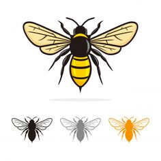 Discover thousands of Premium vectors available in AI and EPS formats Queen Bee Tattoo, Bee Drawing, Bee Illustration, Owl Logo, Vintage Bee, Bee Art, Insect Art, Embroidery Monogram, Thread Painting