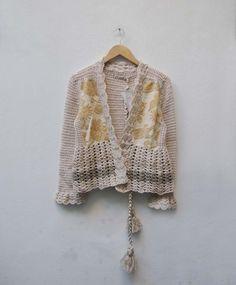 María Cielo: Saco crochet de Paula y Agustina Ricci