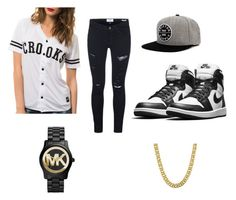 """""""Me Asf"""" by asvp-torri ❤ liked on Polyvore featuring Crooks & Castles, Frame Denim, Brixton, Michael Kors, 1928, women's clothing, women's fashion, women, female and woman"""