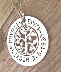 memorial necklace rememberance necklace tree of by natashaaloha, $55.00