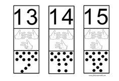 Bande numérique pour la classe Teaching Numbers, Math Numbers, Writing Numbers, Teaching Math, Fun Math, Math Games, Math Activities, Subitizing, Numeracy