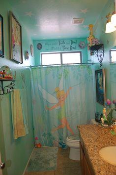 DisneyTinkerbell bathroom; Disney decorating www.mydisneylove.com