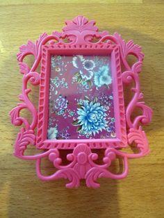 6c580c713dd PINK Baroque Coloured Fridge Magnet Picture Frame Ornate Retro Vintage Gift