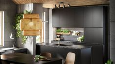 Kjøkken – KUNGSBACKA antrasitt - IKEA Interior Design Kitchen, Kitchens, Kitchen Cabinets, Table, Room, Furniture, Ikea Ideas, Home Decor, Nye