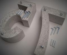 Hausnummer ARIAL 24 cm - Hausnummern Buchstaben Objekte aus Beton