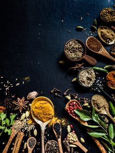 Garam Masala is to Indian food what olive oil is to Italian food! Arm yourself with the basics of the Indian cooking with the easy-to-make garam masala at home! Food Background Wallpapers, Food Wallpaper, Food Backgrounds, Food Menu Design, Food Poster Design, Spice Logo, Photographie Portrait Inspiration, Food Photography Tips, Garam Masala