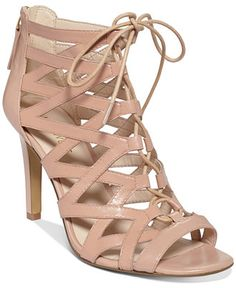 These are my favorite shoes ever - the perfect neutral nude caged heels (they're not only cute, I wear them everywhere and they are super comfy and easy to walk in).