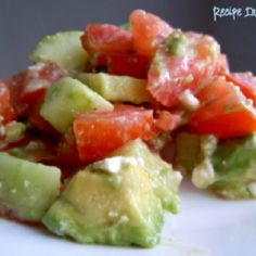 Avocado - Cucumber- Tomato Salad