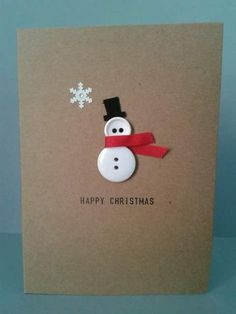▷ ideas - make Christmas cards - great gift ideas for you - DIY - Weihnachten - Noel Homemade Christmas Cards, Christmas Cards To Make, Homemade Cards, Christmas Holidays, Button Christmas Cards, Christmas Christmas, Creative Christmas Cards, Christmas Ideas, Christmas Card Designs