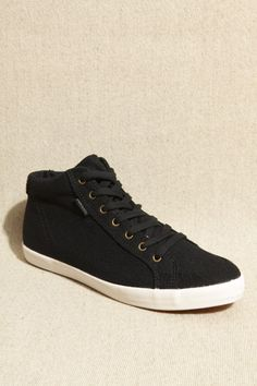 Pointer Black Wool High Top Shoes
