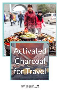 Best uses of activated charcoal on trips. When you travel, it's often impossible to avoid getting stomach bugs, especially if you love street food. That's where activated charcoal comes in. See how activated charcoal can ease your digestive problems wherever you are. With so many activated charcoal uses such as for stomach, the teeth etc., this article focuses on activated charcoal use for traveler's diarrhea and food poisoning. Best Shoes For Travel, Best Travel Gifts, Travel Items, Travel Products, Activated Charcoal Uses, Digestive Problems, Food Poisoning, American Food, Amazing Destinations