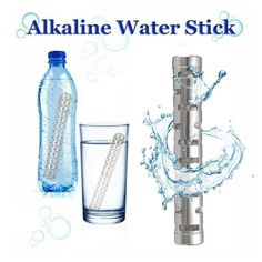 Alkalize your water and your body to maintain your health and energy. The Alkaline Water Stick is small enough to fit in a purse or pocket and convenient for traveling, the office, or your campsite.