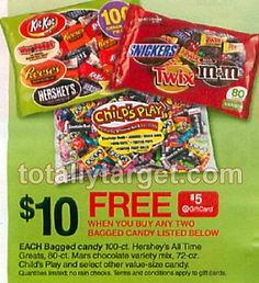 FREE $5 Gift Card wyb 2 Halloween Candy Starts 9/29