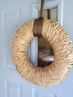 How to make a fall wreath using paper bags