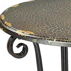 Great Price!~@Overstock - Add a unique touch to your home decor with this Taylor side table Furniture piece features a French iron scroll base Table features distressed black crackle lacquer tophttp://www.overstock.com/Home-Garden/Taylor-Side-Table-with-Scroll-Base/4378580/product.html?CID=214117 $80.99