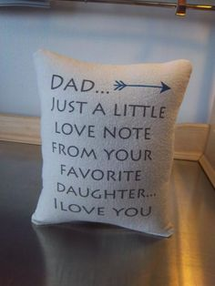 Gift for Dad pillow from daughter throw pillow birthday gift – Sweet Meadow Designs