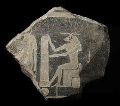 Egyptian creator god Khnum.  At the Rijksmuseum van Oudheden, the Netherlands.