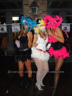 Sexy Exotic Birds Group Halloween Costumes