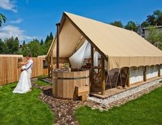 Glamping tent - http://gardenvillagebled.com/en/accommodation Slovenia