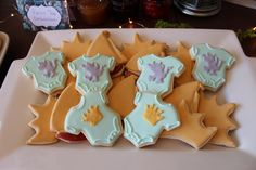 Flooded sugar cookies onsies, crowns and sailboats for Where the Wild Things Are
