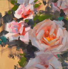 Carol Marine's Painting a Day: Roses, Light and Shade