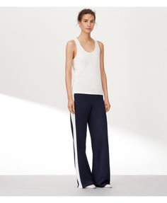 Tory Navy Tory Sport Wide-leg Track Pant