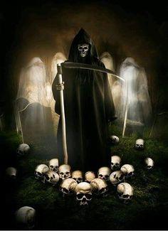 Fear the Reaper Death Reaper, Grim Reaper Art, Grim Reaper Tattoo, Don't Fear The Reaper, Skull Pictures, Dark Pictures, Dark Fantasy Art, Dark Art, Espanto