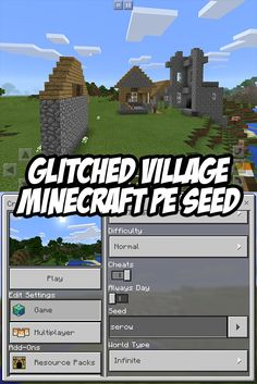 Check out this glitched village seed (village is @ spawn). Seed: serow