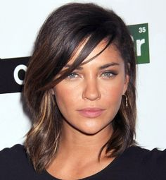 Frizz isn't always a bad thing: A few untamed flyaways give actress Jessica Szohr's look a pretty, natural appeal.