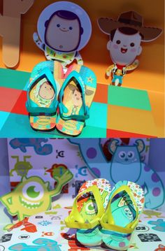 My old kawaii Buzz and Woody have popped up again - havaianas baby toy story e monstros sa 2014