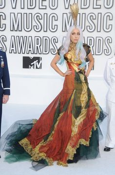 Fashion Flashback: The Best Looks from the MTV VMAs 2010: Lady Gaga in a true piece of art by Alexander McQueen