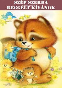 Életmód cikkek és képtár: Reggeli köszöntések Vintage Pictures, Cool Pictures, Cute Animals Images, Cute Animal Illustration, Cute Bee, Mickey Mouse, Retro, Fairy, Teddy Bear