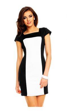 bee2e7c9f5b Robe courte pas cher robe courte tendance et fashion Noir Blanc TM-5071