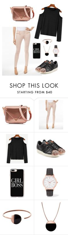 """""""Girl Boss🔝"""" by sarahaider ❤ liked on Polyvore featuring Alexander Wang, Michael Kors, adidas Originals, Casetify, Larsson & Jennings and Skagen"""