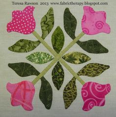 """Three more completed 6 inch hand applique blocks for Lori Smith's """"Songs of Spring"""" quilt. I now have 10 of the 12 bl. Applique Quilt Patterns, Hand Applique, Pattern Blocks, Applique Designs, Quilting Tutorials, Quilting Projects, Quilting Designs, Quilt Labels, Sewing Appliques"""