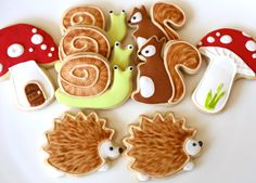 Woodland Critters Sugar Cookies by SurfTownSweets on Etsy https://www.etsy.com/listing/222206837/woodland-critters-sugar-cookies