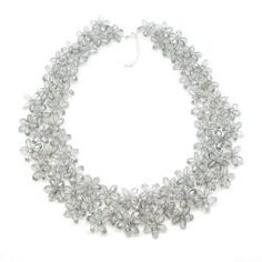 Mini Floral Lush Silver Crystal Chocker Necklace (Thailand) | Overstock.com Shopping - Great Deals on Necklaces